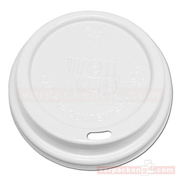Deckel weiß Hartpapierbecher - Ø 90mm - für Becher 300+400ccm