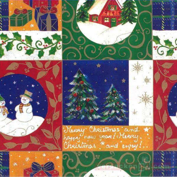 Weihnachts Geschenkpapier E 3331, Rolle 50 cm
