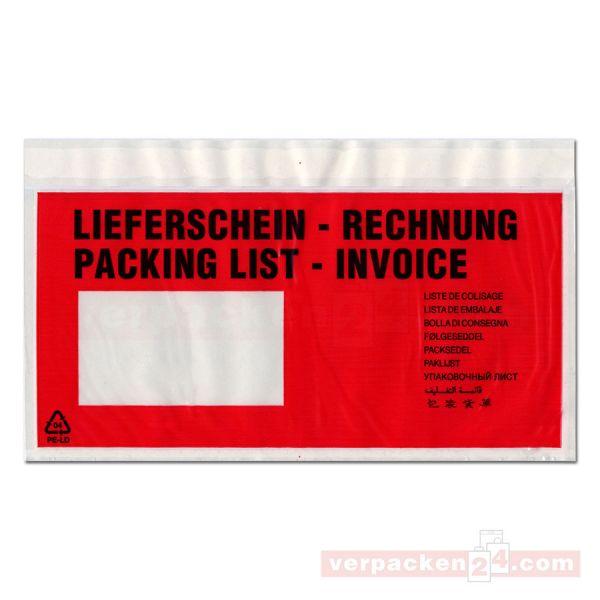 SKL-Lieferscheinhüllen, transparent - LS/RE - lang DIN