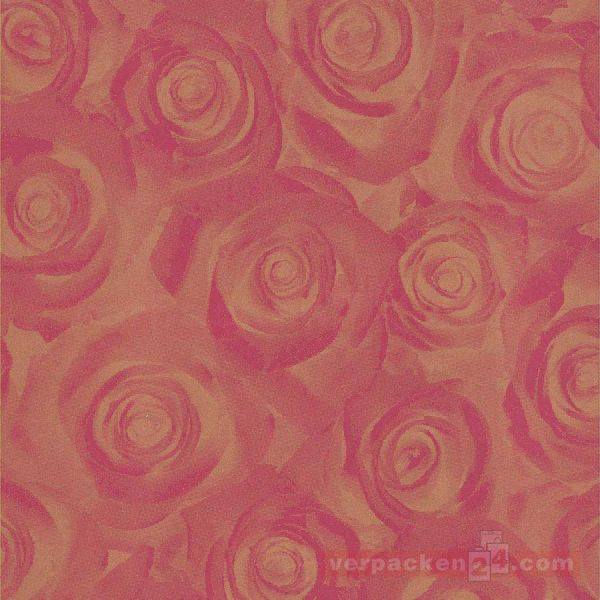 Geschenkpapier, neutral B 8513, Rolle 70 cm - Rosenblüten
