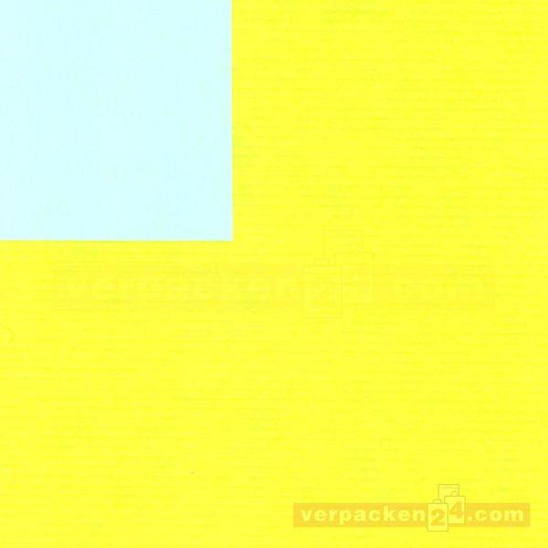 Geschenkpapier, neutral St 37007, Roll 50 cm - gelb/hellblau