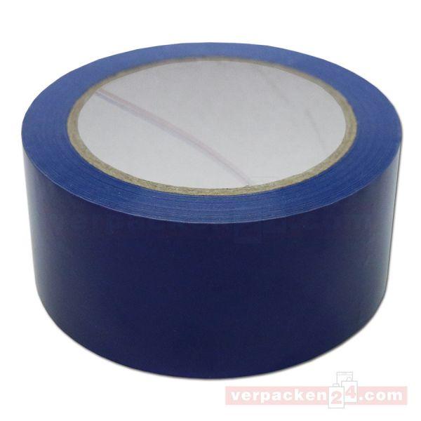 Packband PVC, blau - leise - Rolle 50 mm / 66 m