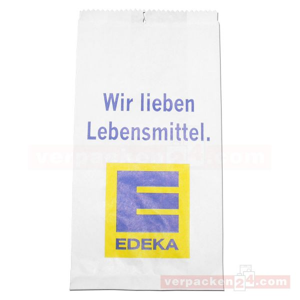 Fleischerfaltenbeutel, weiß EDEKA Classic - täglich frisch