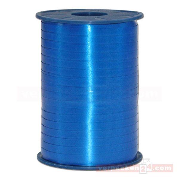 Glanzband auf Rolle 500 mtr., 5 mm - blau (614)