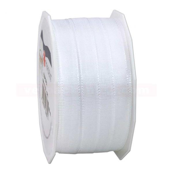 Seidenband - Europa - Rolle 50 m, 10 mm - weiß (601)