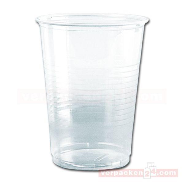 Ausschankbecher Polystyrol, klar - Trinkbecher Plastik