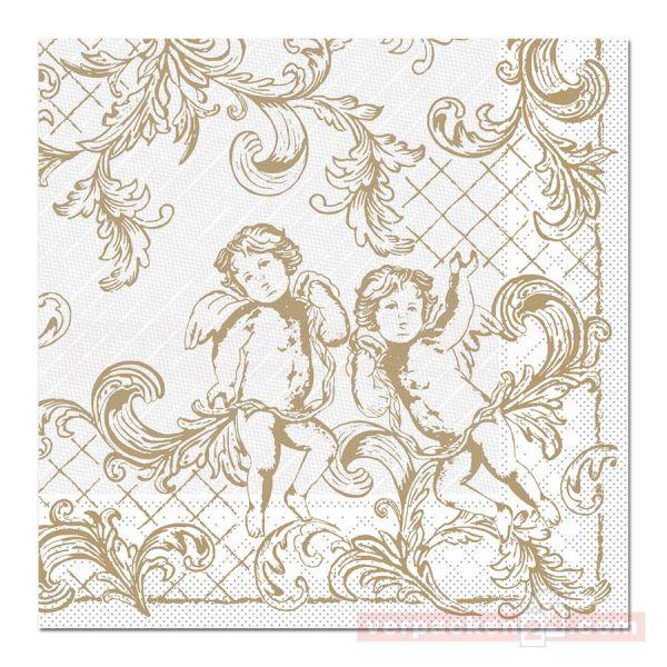 Servietten Tissue Xmas, 40x40 cm - 1/4 Falz, Gabriel - gold