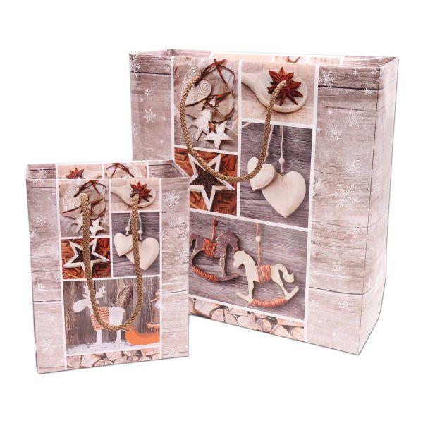 Weihnachts-Papiertragetasche - Exclusiv - Vintage Stars