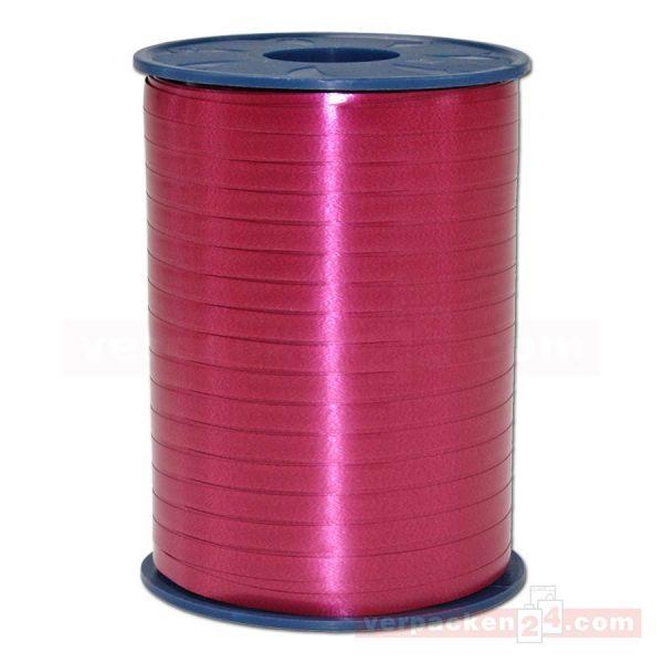 Glanzband auf Rolle 500 mtr., 5 mm - bordeaux (18)