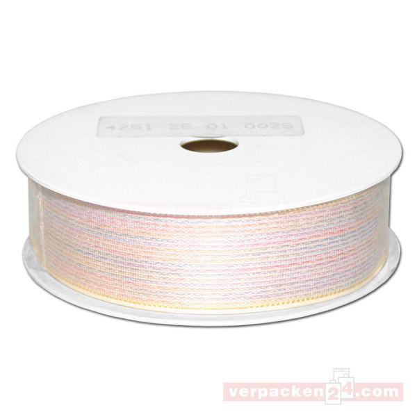 Schmuckband - Opal, unifarbig, Rolle 25 mtr - 25 mm