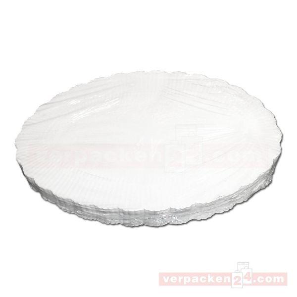 Plattenpapiere weiß, oval