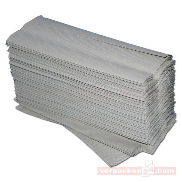 Handtuchpapier, Blattware, natur, 1-lagig - Zickzackfalzung