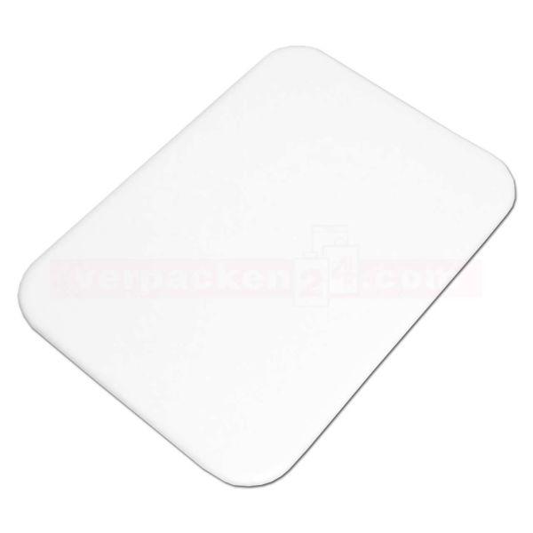 Käsetablett weiß - 135x180x3 mm - für Käse und Aufschnitt