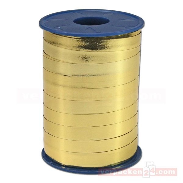 Glanzband metallisiert - 10 mm - Rolle 250 m - gold (634)