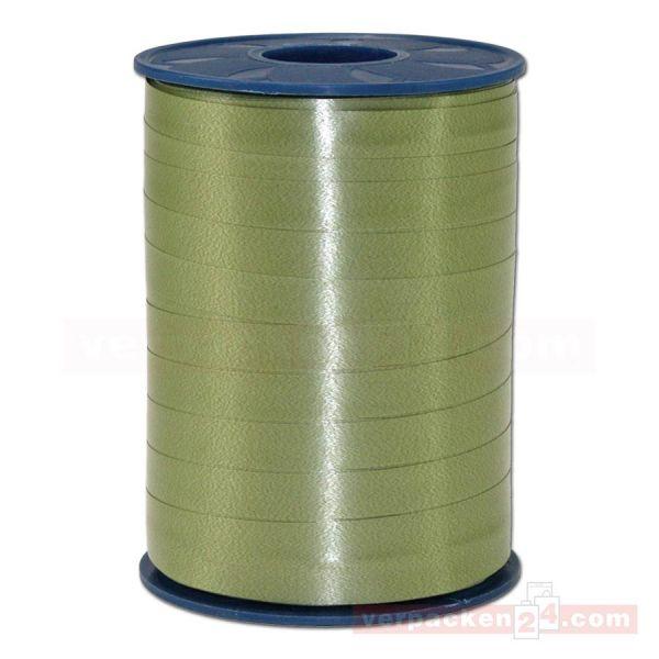 Glanzband auf Rolle 250 mtr., 9 mm - olivgrün (621)