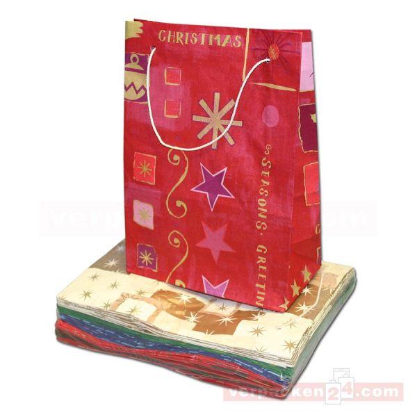 Weihnachtstragetasche, mit Kordel, 2,5 kg - 20+10x28 cm