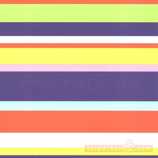 Geschenkpapier, neutral St 983243, Rolle 50 cm - Streifen gelb