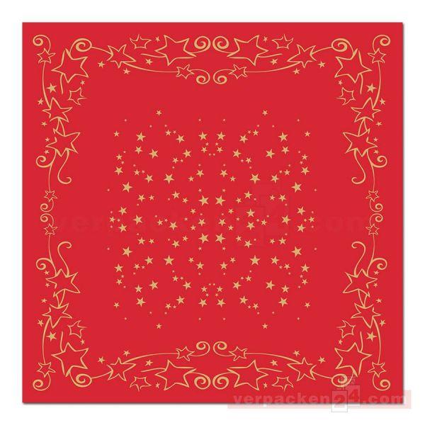 Tischdecken Mank Xmas, Airlaid - Bogen 80x80cm - Glitter rot