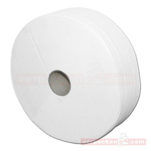 Toilettenpapier, Jumborollen, Krepp, grau-Recycling