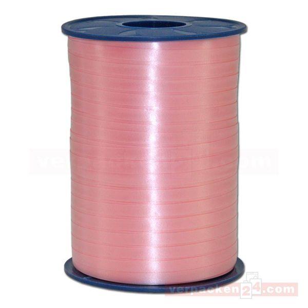 Glanzband auf Rolle 500 mtr., 5 mm - blaßrosa (604)