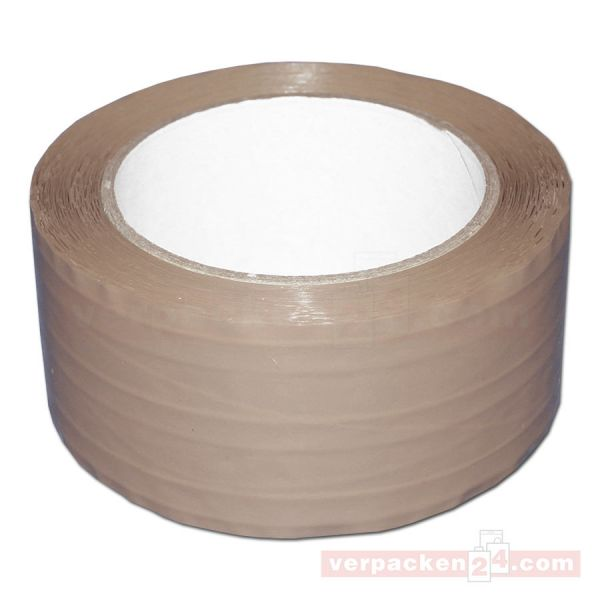Packband PP, braun - sinusverstärkt - Rolle 50 mm / 66 m