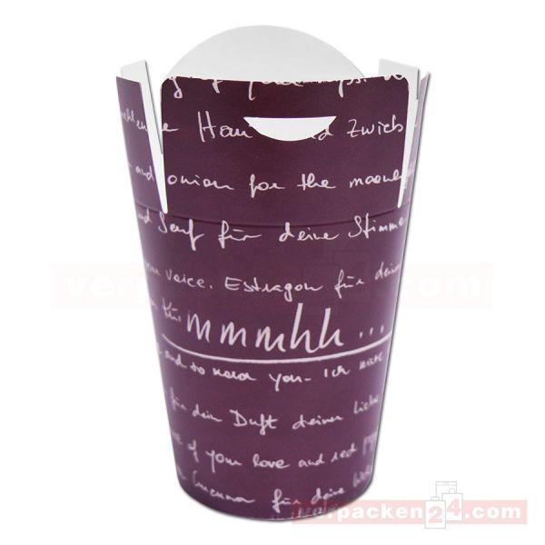 Mitnahmebox Noodle - mmmhh - Hartpapier