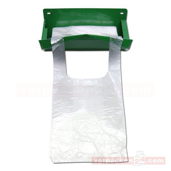 Knotenbeutel-Wandabroller, für Rollen - Metall - grün