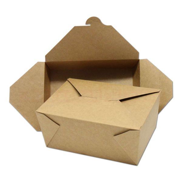 Hartpapier-Box LEO - braun - aus Pappe mit PE-Beschichtung