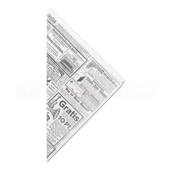 Spitztüten mit PE-Beschichtung - Zeitungsdruck - 2-lagig
