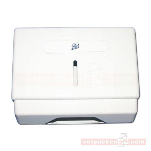 Handtuchspender klein, Kunststoff - weiß/Rauchglas