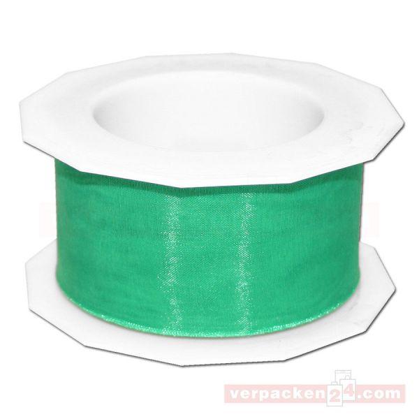 Schleifenband - Sheer - Rolle 25 m, 40 mm - grün