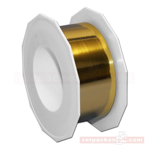 Glanzband metallisiert - 40 mm - Rolle 25 m - gold (634)