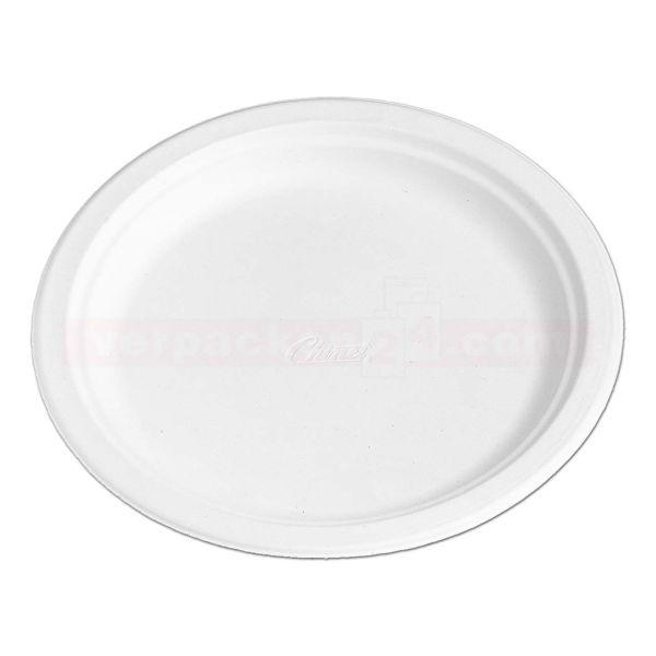Chinet weiß, Holzschliff, Dessertteller, rund - 17 cm